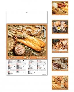 Calendario illustrato sei fogli Pane