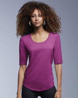 T-shirt donna Tri-Blend maniche 3/4