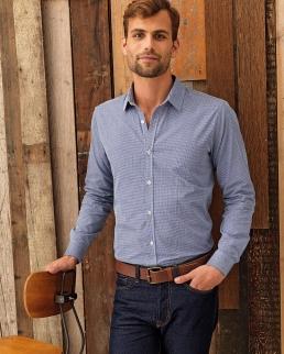 Camicia a maniche lunghe da uomo Microcheck (Gingham)