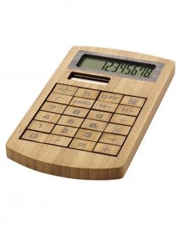 Calcolatrice ecologica in bambù