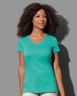 T-shirt con collo a V Sharon