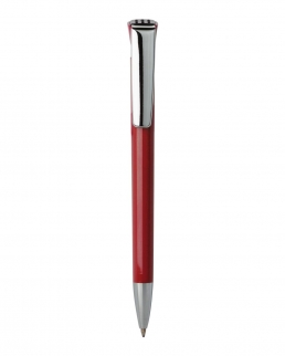 Penna a sfera in plastica con clip in metallo
