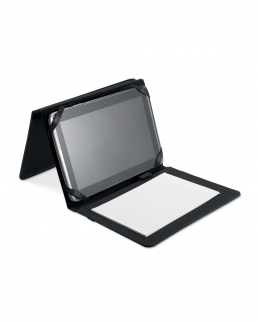 Custodia porta tablet con blocck notes