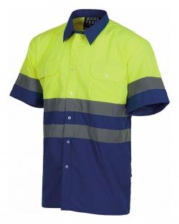 Camicia a maniche corte alta visibilità