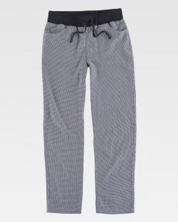 Pantaloni a quadretti con elastico in vita