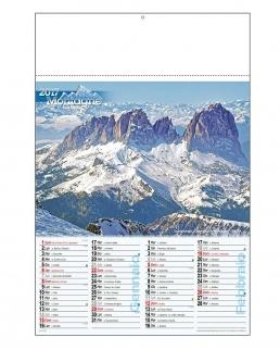 """Calendario bimensile """"Monti"""""""