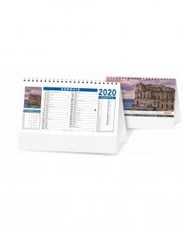 Calendario da tavolo Paesaggi e Citta Trimensile 12 fogli