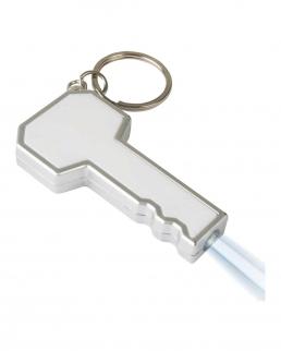 Portachiavi con luce a forma di chiave