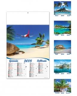 Calendario illustrato sei fogli Mari esotici