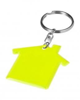 Portachiavi casa giallo fluo