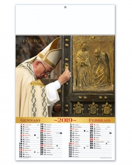 Calendario 6 fogli Papa Francesco