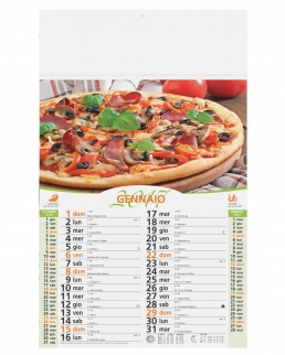 Calendario olandese illustrato Pizza
