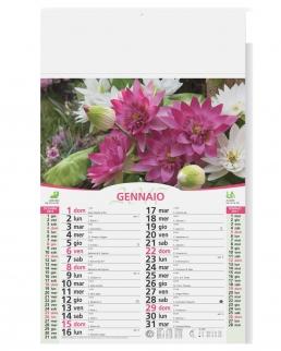 Calendario olandese illustrato Fiori e Giardini