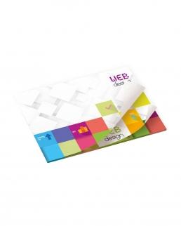 BIC® blocco 50 Fogli Adesivi stampa alternata 101 mm x 75 mm
