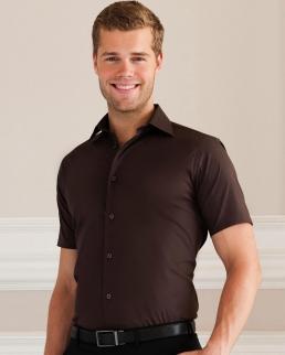 Camicia Stretch attillata maniche corte