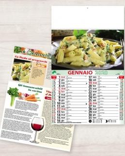 Calendario olandese illustrato Gastronomia