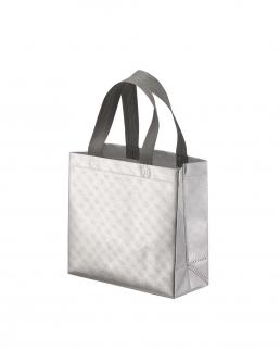 Shopper con soffietto in TNT laminato manici corti