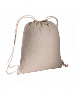 Zainetto in cotone riciclato effetto melange