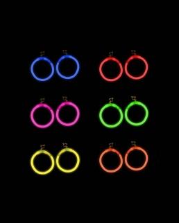 Orecchini Fosforescenti a cerchio