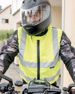 Gilet da motociclista ad alta visibilità