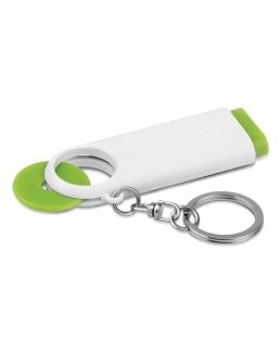 Portachiavi in plastica gettone e 2 luci LED