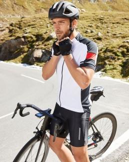 T-shirt da ciclismo uomo zip intera