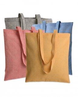 Shopper in cotone riciclato effetto melange