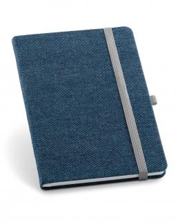 Blocco note A5 con copertina rivestita in tessuto tipo jeans