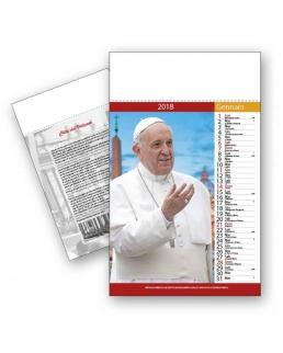 Calendario Papa Francesco Trimestrale 12 fogli