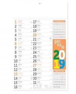 Calendario Olandese Fluo