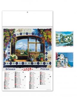 Calendario illustrato sei fogli  Acquarello
