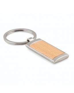 Portachiavi rettangolare in legno e zinco