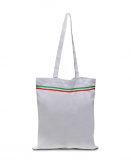 Shopper in cotone Italia manici lunghi