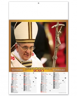 Calendario 6 fogli Papa Francesco