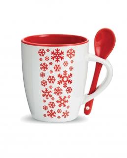 Tazza di ceramica con cucchiaino