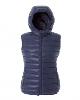 Gilet da donna in nylon morbido e lucido Brest lady