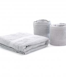 Set di 3 Asciugamani in Cotone con Confezione