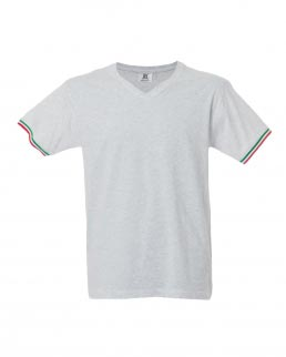 T-shirt manica corta collo a V New Mlano
