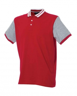 Polo con colletto stile college Washington