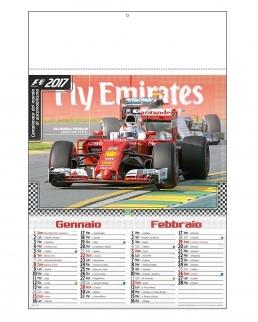 """Calendario bimensile """"Formula 1"""""""