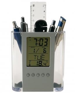Sveglia LCD e portapenne BUTLER