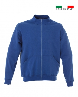 Felpa made in Italy Ravenna zip lunga