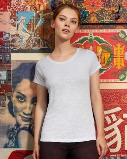 T-shirt donna in cotone organico scollo a V