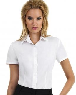 Camicia donna popeline maniche corte Smart