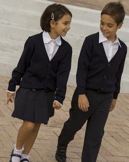 Cardigan bambini unisex in lana Merinos
