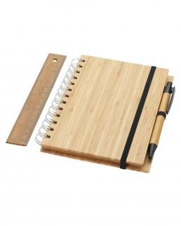 Notebook in bambù con copertina a spirale