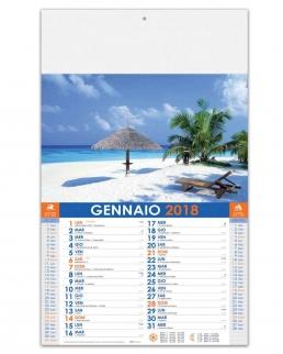 Calendario illustrato Travel Paradise