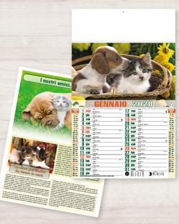 Calendario olandese illustrato Cani e Gatti