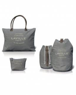 Set da Viaggio Vintage LAVILLE PARIS in polycotton