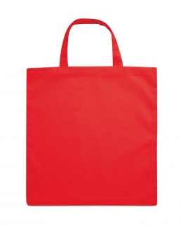 Shopper in cotone con manici corti